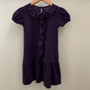 Gingham Short Sleeve Ruffle Dress, 5